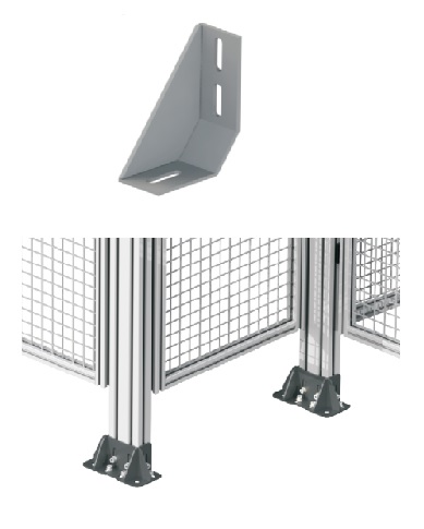 Foot fixing bracket for construction from aluminium for Foundation brackets