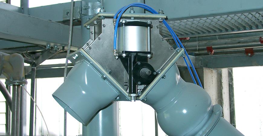 Dva Diverter Flap Valves For Powder And Granules Elega