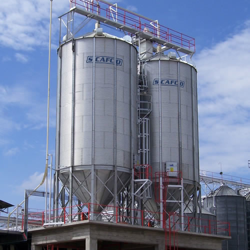 Heavy Duty Fan >> Bulk materials storage silos: Elega